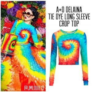 Alice + Olivia Delaina Tie Dye Crop Top